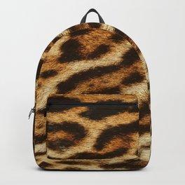 Leopard fur textures. Animal print Backpack