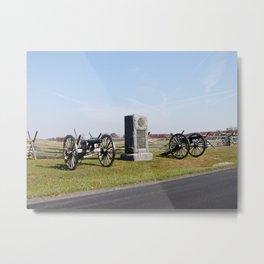 Gettysburg Battlefield Cannons Metal Print