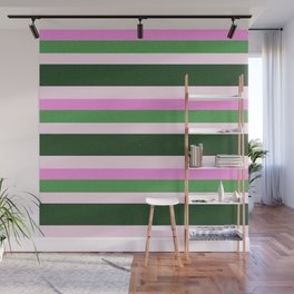 Pink Roses in Anzures 1 Stripes 4H Wall Mural