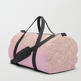 Rose gold glitter ombre on sweet lilac Duffle Bag