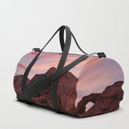 Arch Rock Sunset, Valley of Fire - I Duffle Bag
