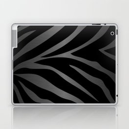 Black & Gray Metallic Zebra Print Laptop & iPad Skin