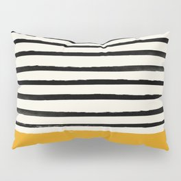 Fall Pumpkin x Stripes Pillow Sham