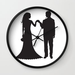 Bride And Groome PNG Wall Clock