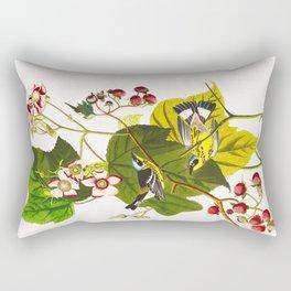 Black and Yellow Warbler Bird Rectangular Pillow