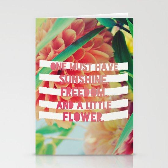 Sunshine//Freedom//Flower Stationery Cards