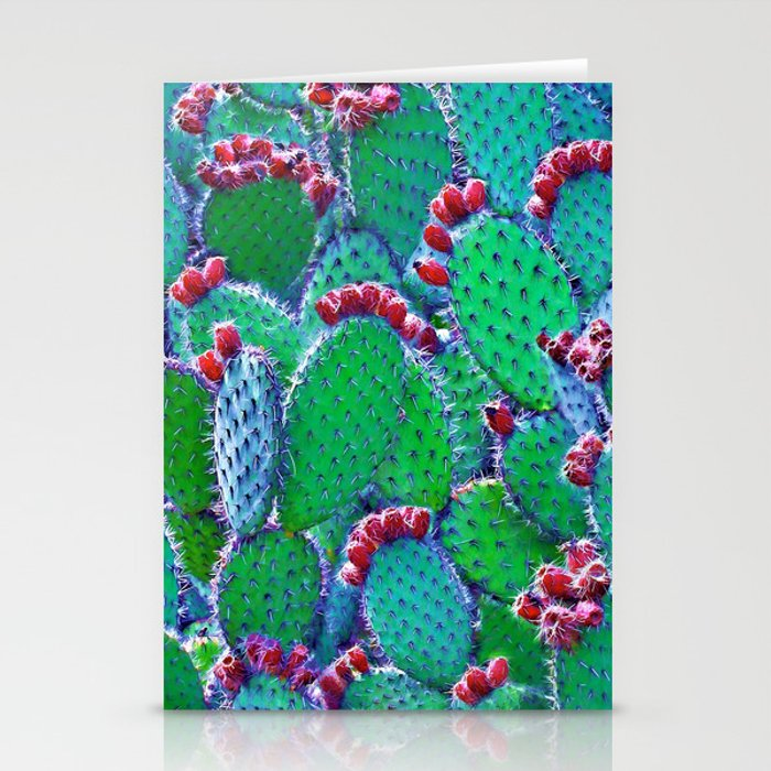 Flowering cacti Stationery Cards