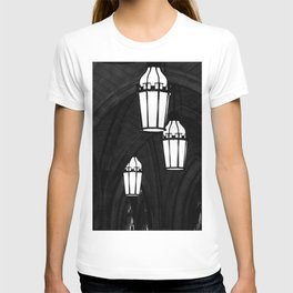 Church Arches and Lanterns Photograph by Larry Simpson T-shirt