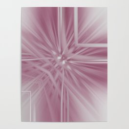 Reflecting Pastel Pink Abstract Poster