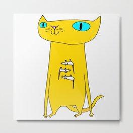 This Cat Eats . . . Mice Metal Print