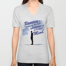 Runnig is one of the best Solution Unisex V-Neck
