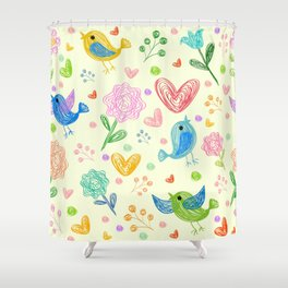 Nice bird Shower Curtain