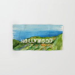 Hollywood Sign - An American Cultural Icon Hand & Bath Towel