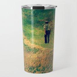 Walking Through The Hay Field Travel Mug