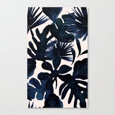 Tropical Leaves - Midnight Canvas Print
