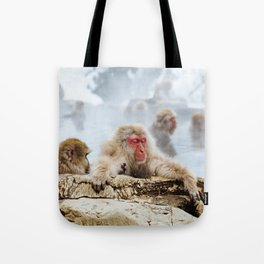 The Japanese macaque also known as the snow monkey Tote Bag