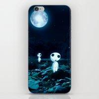 kodama iPhone & iPod Skins featuring Princess Mononoke (Kodama) by pkarnold + The Cult Print Shop