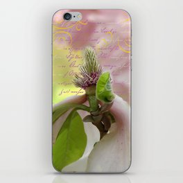 pink magnolia iPhone Skin