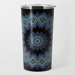 Embroidered beads pattern 2 Travel Mug