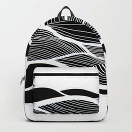 Waving Harmonic Fields - Black and White Invert Backpack