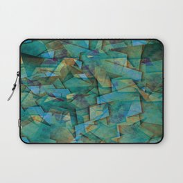 Fragments In blue - Abstract, fragmented art in blue Laptop Sleeve