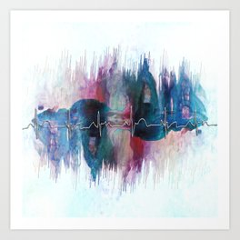 Heartbeat Drama Art Print