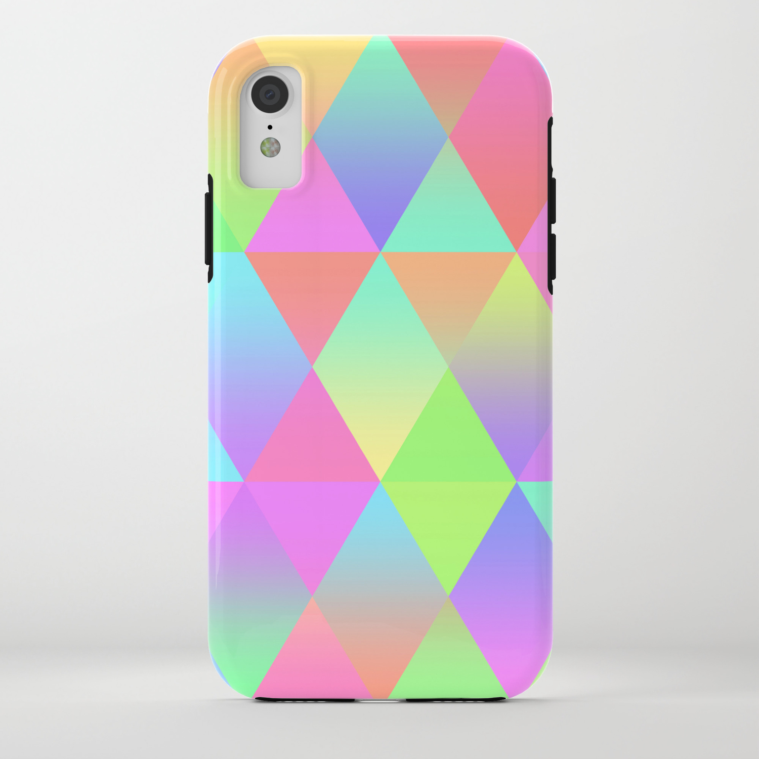 53a04873db4ec Colorful Geometric Pattern Prism Holographic Foil Triangle Texture iPhone  Case