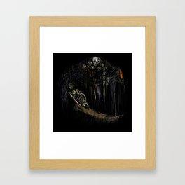 Gravelord Nito - Dark Souls (black tee PNG edition) Framed Art Print
