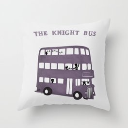 The Knight Bus Throw Pillow