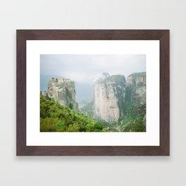 Grecian Village Framed Art Print