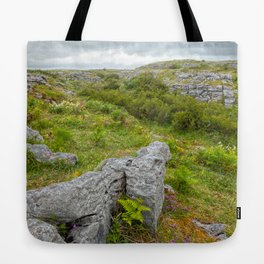 Cloudy Poulnabrone Landscape Tote Bag