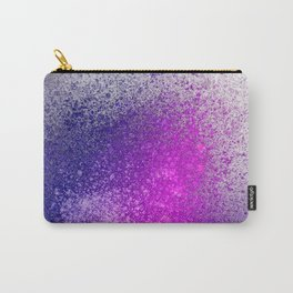 Hot Pink and Purple Paint Splatter Carry-All Pouch