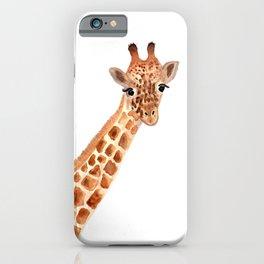 Watercolor Giraffe iPhone Case