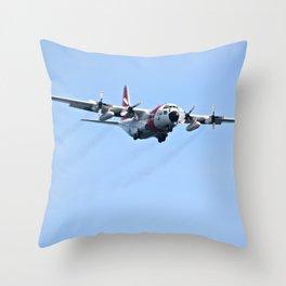 Coast Guard C130 Photography Print Throw Pillow