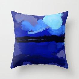 Loving Blue Throw Pillow