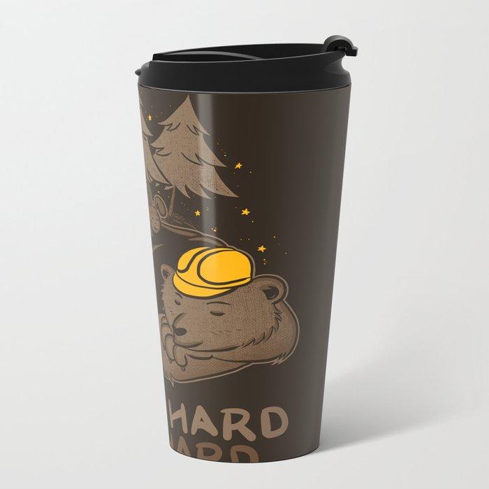 Work Hard Nap Hard Metal Travel Mug