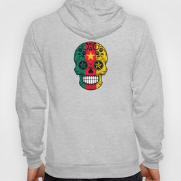 Sugar Skull with Roses and Flag of Cameroon Hoody