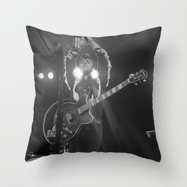 Birds in the Boneyard, Print 14: Mikey Leads the Crowd Throw Pillow