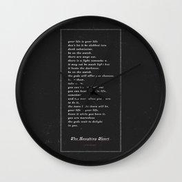 The Laughing Heart II Wall Clock