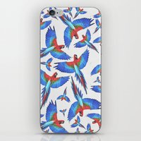 parrot iPhone & iPod Skins featuring Parrot. by Eleaxart