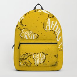 Worldmap vintage yellow Backpack