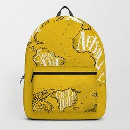Worldmap vintage yellow Backpack