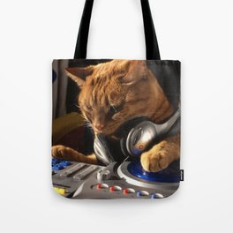 DJ Cat Tote Bag