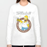 simpson Long Sleeve T-shirts featuring To Alcohol! Homer Simpson by sgrunfo