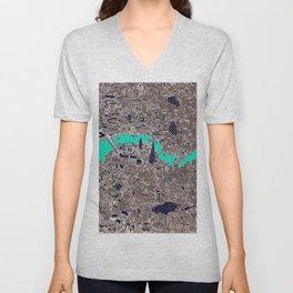 amazing London city map drawing Unisex V-Neck