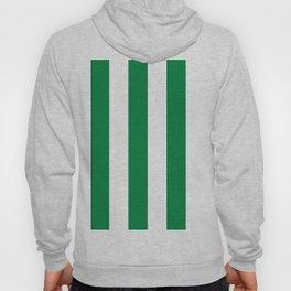 Classic Cabana Stripes in White + Kelly Green Hoody