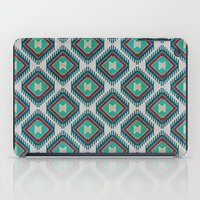 kilim iPad Cases featuring Pistachio Persian Kilim by Katayoon Photography & Design