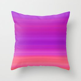 Orange & Purple Stripes | Bright ombre gradient pattern Throw Pillow