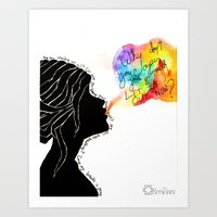 charmaine Art Prints featuring Easy Talk by Sarah Margulies