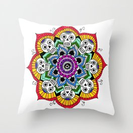 mandalavera de colores Throw Pillow